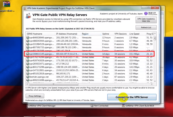 conectar vpn gate softether gratis vip free