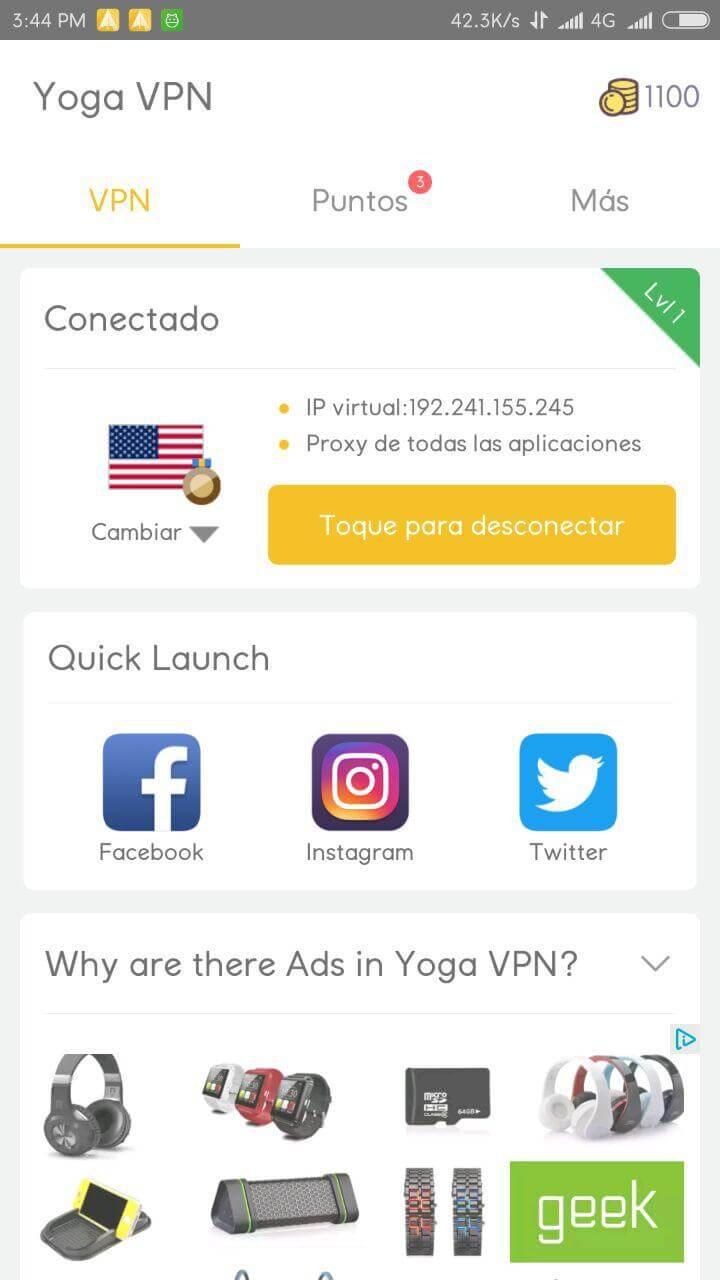 conexion yoga free vpn apk android 2017
