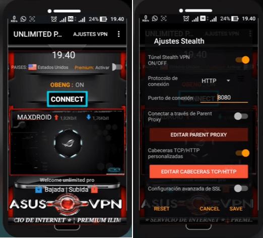 configurar y conectar asus mod pro vpn apk android