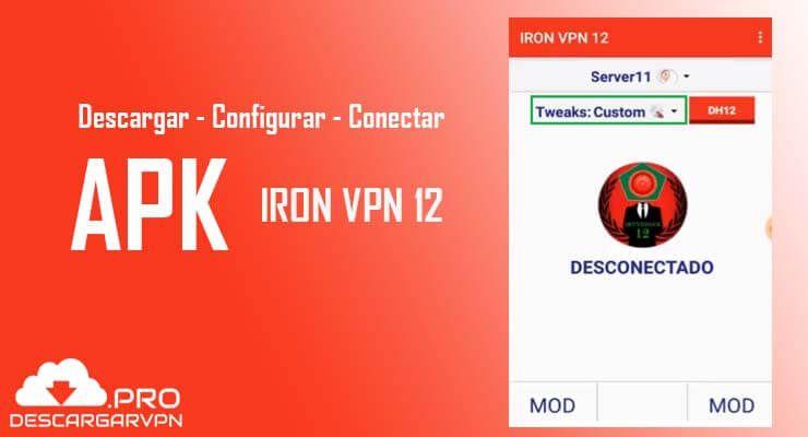 configuracion iron vpn 12 apk android