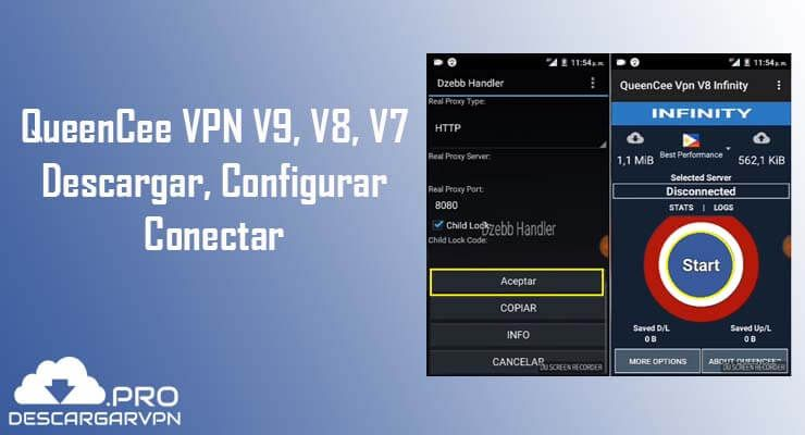descargar QueenCee vpn V8 Infinity apk gratis android
