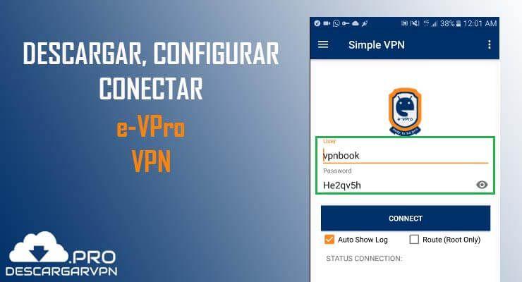 descargar configurar y conectar e-vpro vpn apk