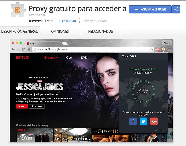 descargar touch vpn para google chrome gratis ilimitado free