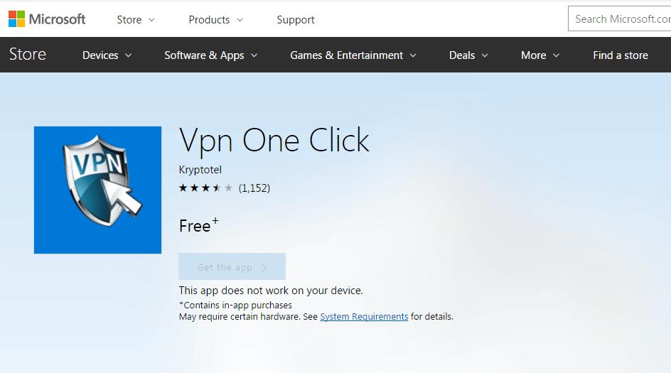 descargar vpn one click para windows phone